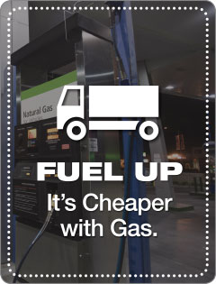 Fuel up, it's cheaper with gas.